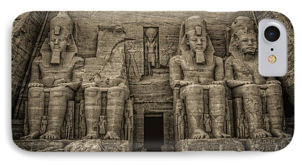 Great Temple Abu Simbel  IPhone Case by Nigel Fletcher-Jones