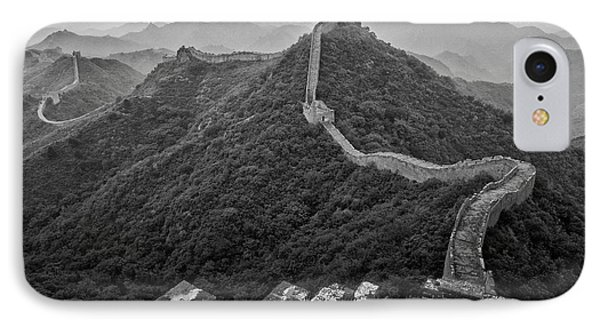 IPhone 7 Case featuring the photograph Great Wall 2, Jinshanling, 2016 by Hitendra SINKAR