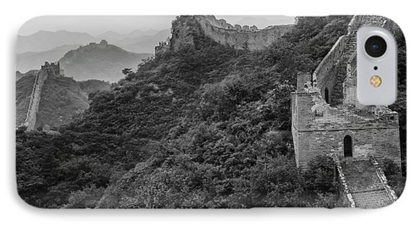 IPhone 7 Case featuring the photograph Great Wall 3, Jinshanling, 2016 by Hitendra SINKAR