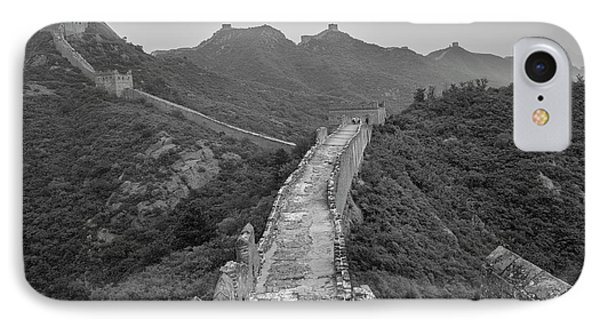 IPhone 7 Case featuring the photograph Great Wall 6, Jinshanling, 2016 by Hitendra SINKAR