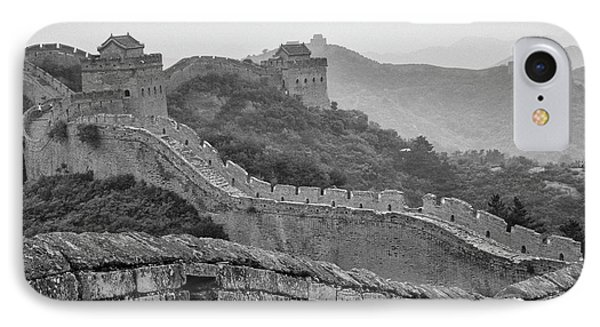 IPhone 7 Case featuring the photograph Great Wall 7, Jinshanling, 2016 by Hitendra SINKAR