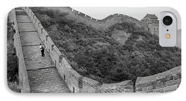 IPhone 7 Case featuring the photograph Great Wall 9, Jinshanling, 2016 by Hitendra SINKAR