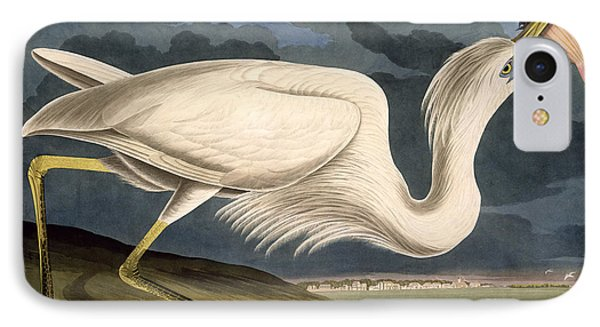 Great White Heron IPhone Case by John James Audubon