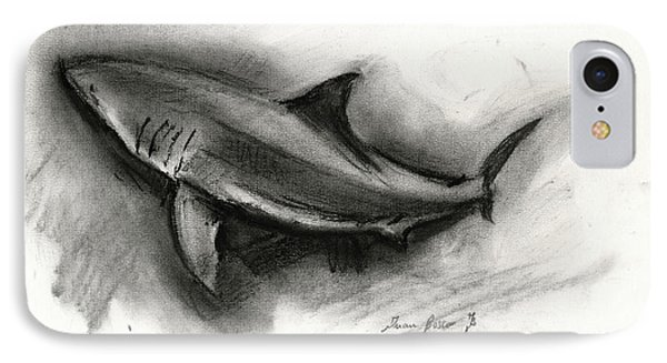 Great White Shark Drawing IPhone Case