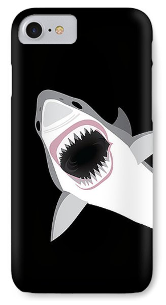 Great White Shark IPhone Case by Antique Images