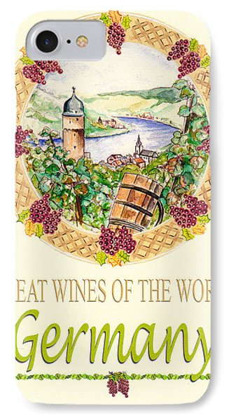 Great Wines Of The World - Germany IPhone Case by John Keaton
