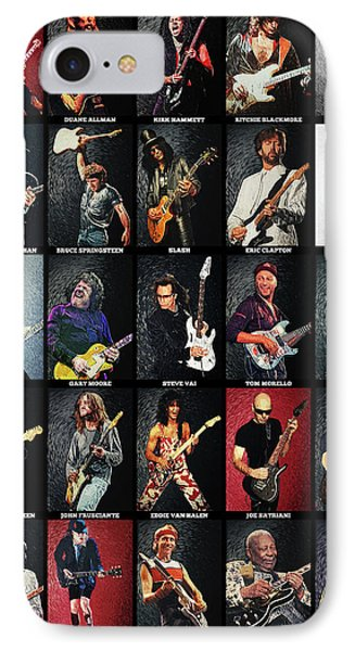 Jimmy Page iPhone 7 Case - Greatest Guitarists Of All Time by Taylan Apukovska