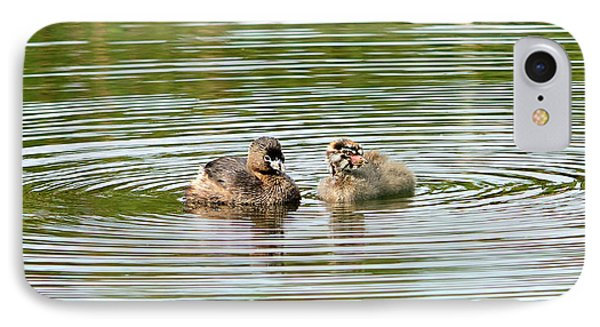 Grebes And Ripples IPhone Case by Marv Vandehey