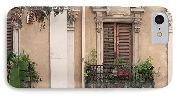Grecian Courtyard IPhone Case by Victoria Harrington
