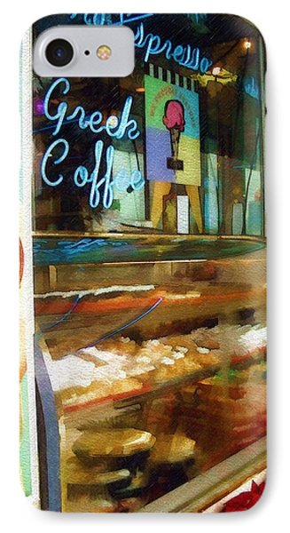 IPhone Case featuring the photograph Greek Coffee by Sandy MacGowan