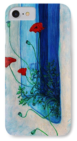 IPhone Case featuring the painting Greek Poppies by Xueling Zou