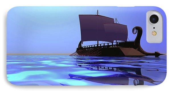 Greek Ship Phone Case by Corey Ford