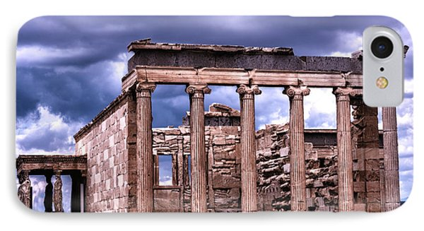 Greek Temple IPhone Case by Linda Constant