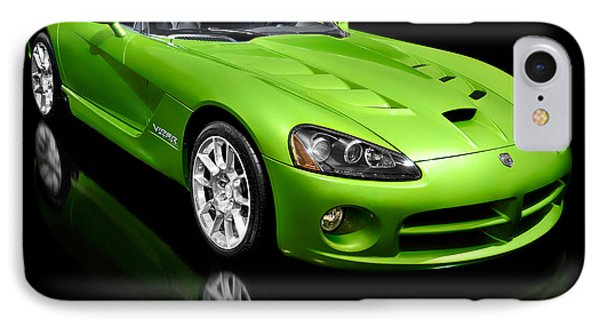 Green 2008 Dodge Viper Srt10 Roadster IPhone Case by Oleksiy Maksymenko