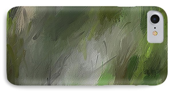 Green Abstract Wall Art IPhone Case
