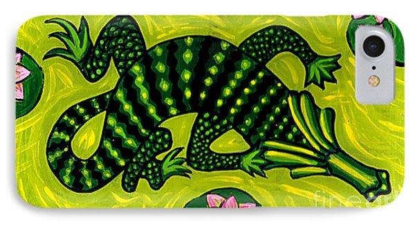 Green Alligator IPhone Case