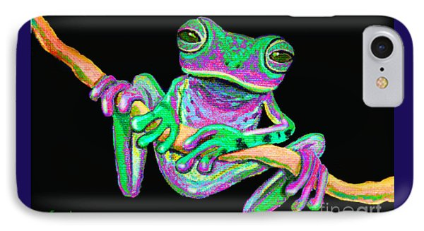 Green And Pink Frog Phone Case by Nick Gustafson