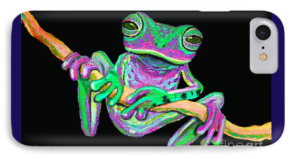 Green And Pink Frog IPhone Case by Nick Gustafson