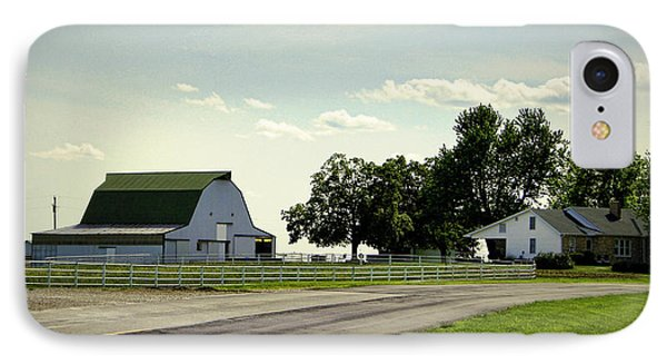Green And White Farm Phone Case by Cricket Hackmann