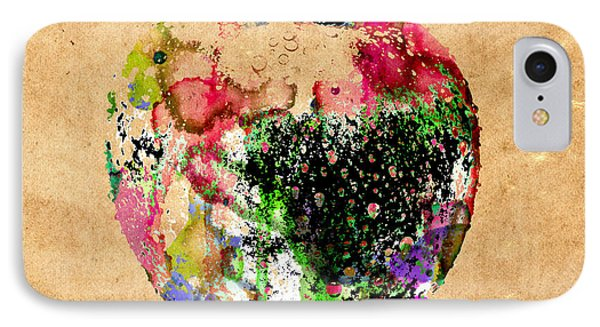 Green Apple Poster Print IPhone Case by Robert R Splashy Art Abstract Paintings