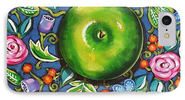 Green Apple Phone Case by Sandra Lett