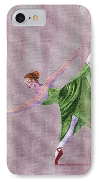 IPhone Case featuring the painting Green Ballerina by Jamie Frier