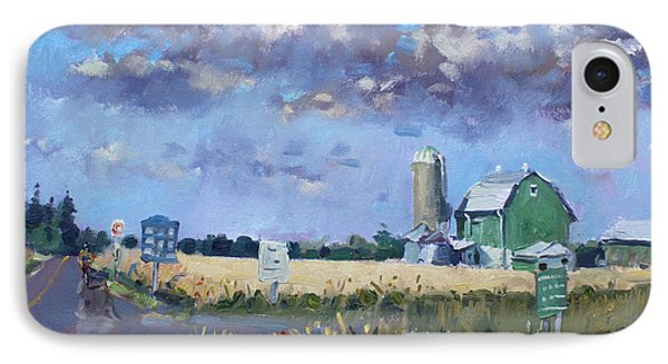 Green Barn In Glen Williams On IPhone Case by Ylli Haruni