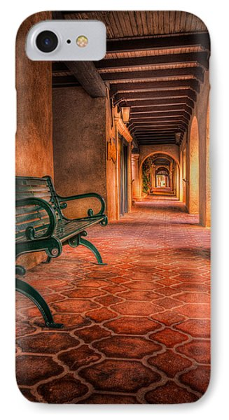 Green Bench And Arches IPhone Case