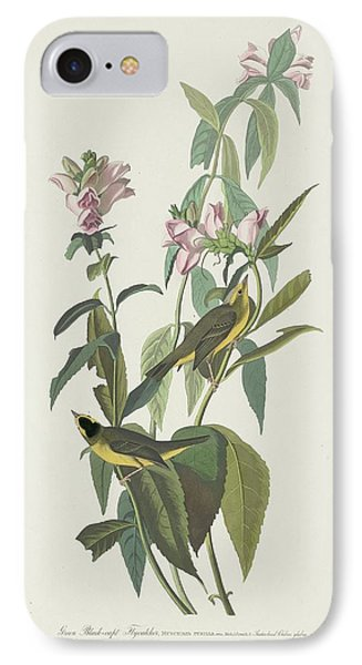 Flycatcher iPhone 7 Case - Green Black-capt Flycatcher by Dreyer Wildlife Print Collections