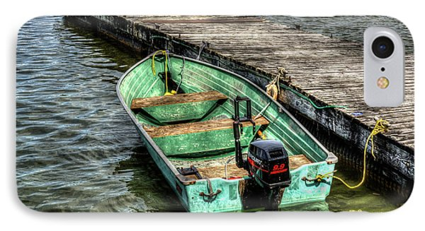 Green Boat IPhone Case by Irwin Seidman