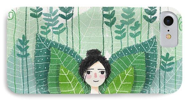 Green IPhone 7 Case by Carolina Parada