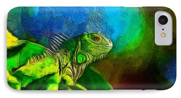 Green Chameleon - Da IPhone Case
