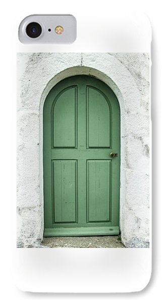 Green Church Door Iv IPhone Case