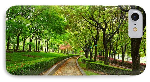 Green City Park. Shanghai, China IPhone Case by Caio Caldas