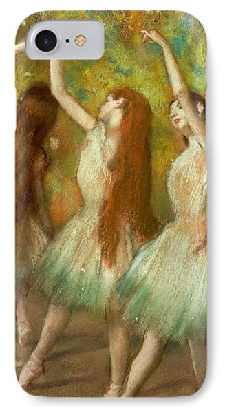 Green Dancers IPhone Case by Edgar Degas