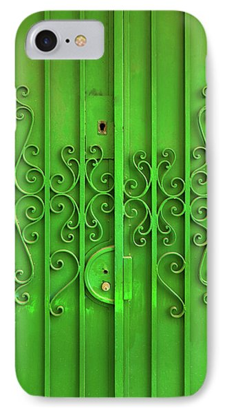 IPhone Case featuring the photograph Green Door by Carlos Caetano