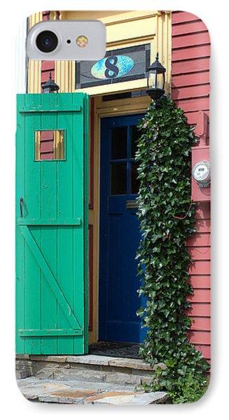 Green  Door IPhone Case by Douglas Pike