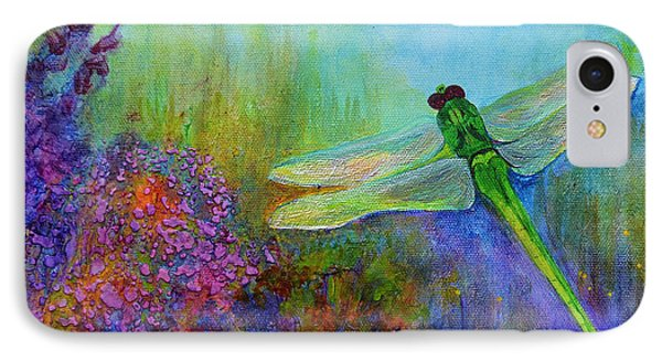 Green Dragonfly IPhone 7 Case by Claire Bull
