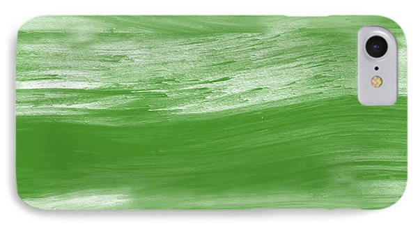 Green Drift- Abstract Art By Linda Woods IPhone Case