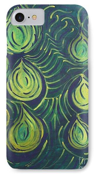 Green Drops Phone Case by Jasmine Tolmajian