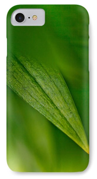 Green Edges IPhone Case by Az Jackson
