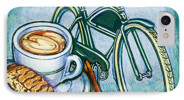 Green Electra Delivery Bicycle Coffee And Biscotti IPhone Case by Mark Jones