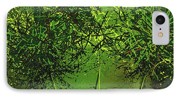 Green Explosions - Green Modern Art IPhone Case