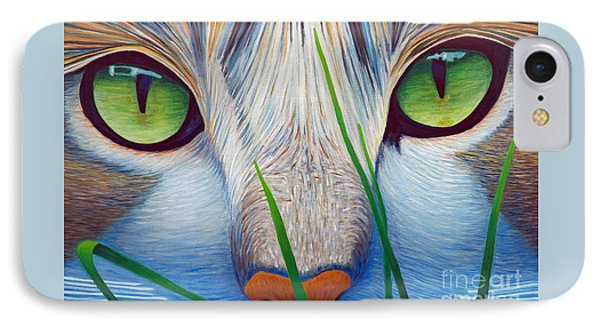Green Eyes Phone Case by Brian  Commerford