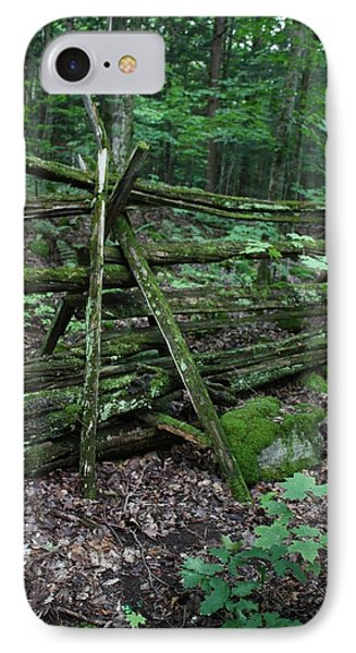 Green Fence IPhone Case by Pat Purdy