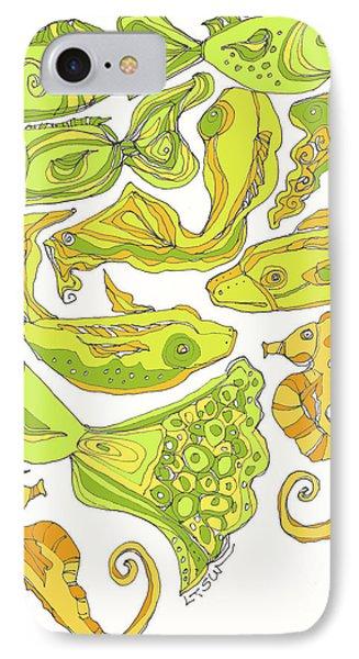 Green Fish Phone Case by Linda Kay Thomas