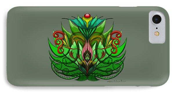 Green Flower IPhone Case
