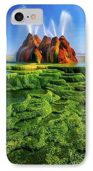 Green Fly Geyser Phone Case by Inge Johnsson