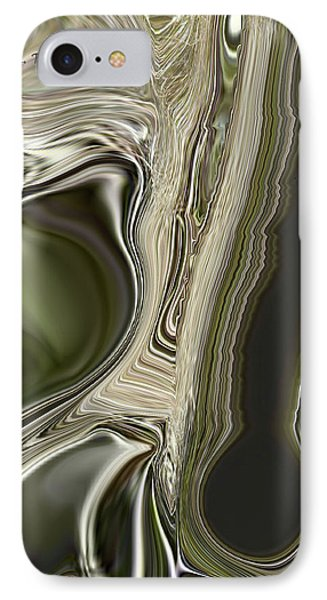 IPhone Case featuring the digital art Green Friends by Roena King