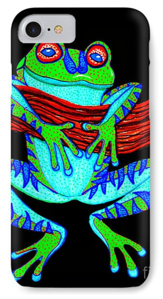 Green Frog Hanging On IPhone Case
